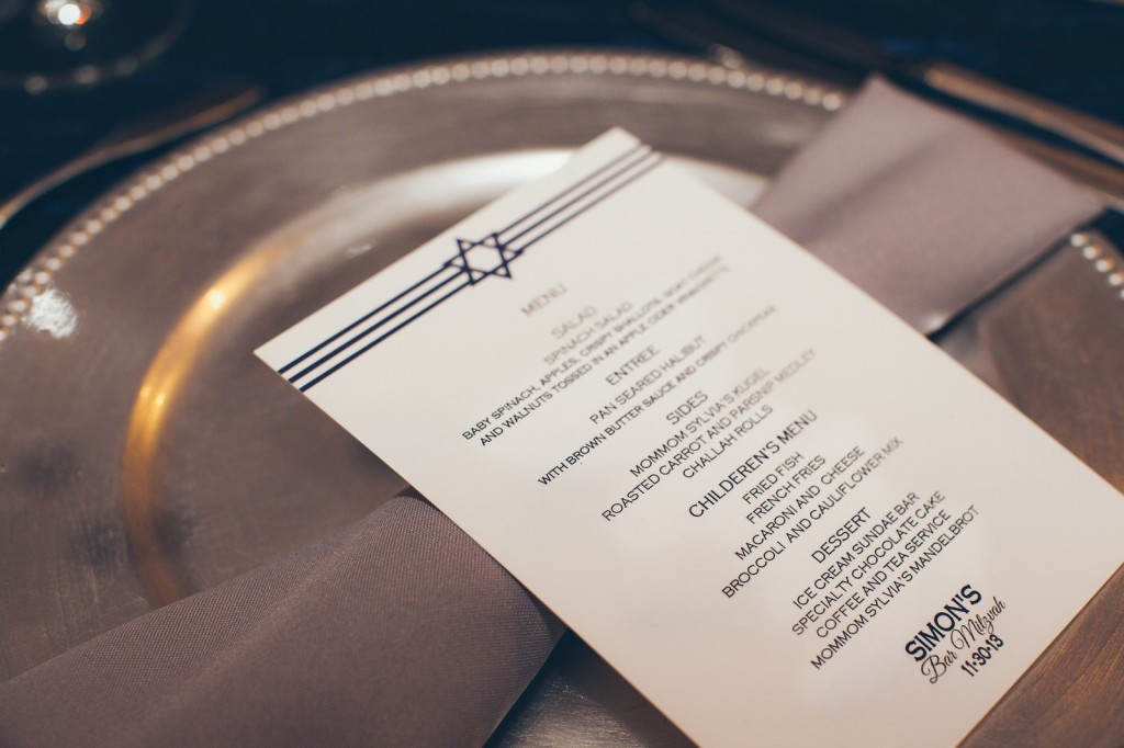Menu Cards by Noirstyle Invites