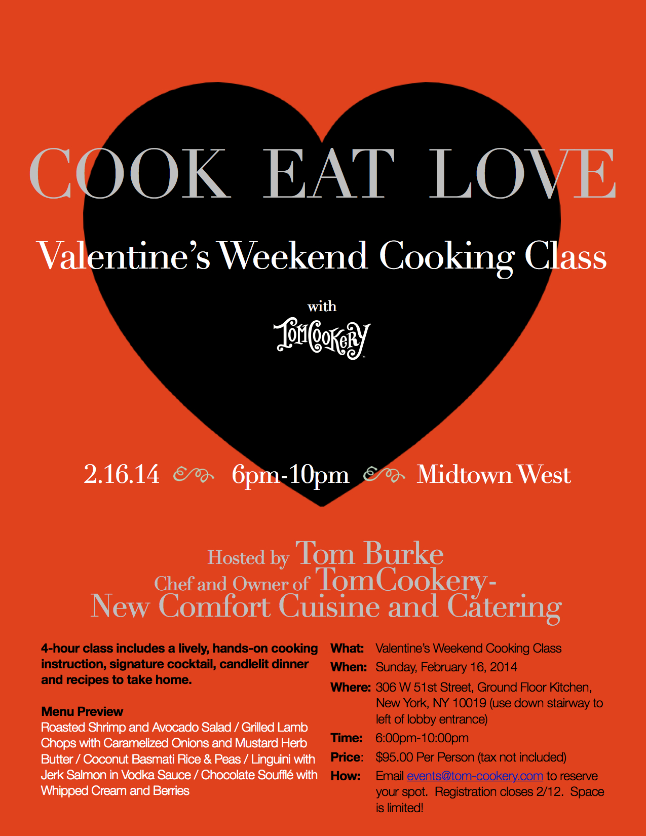 TomCookery Cooking Class Flyer V 3