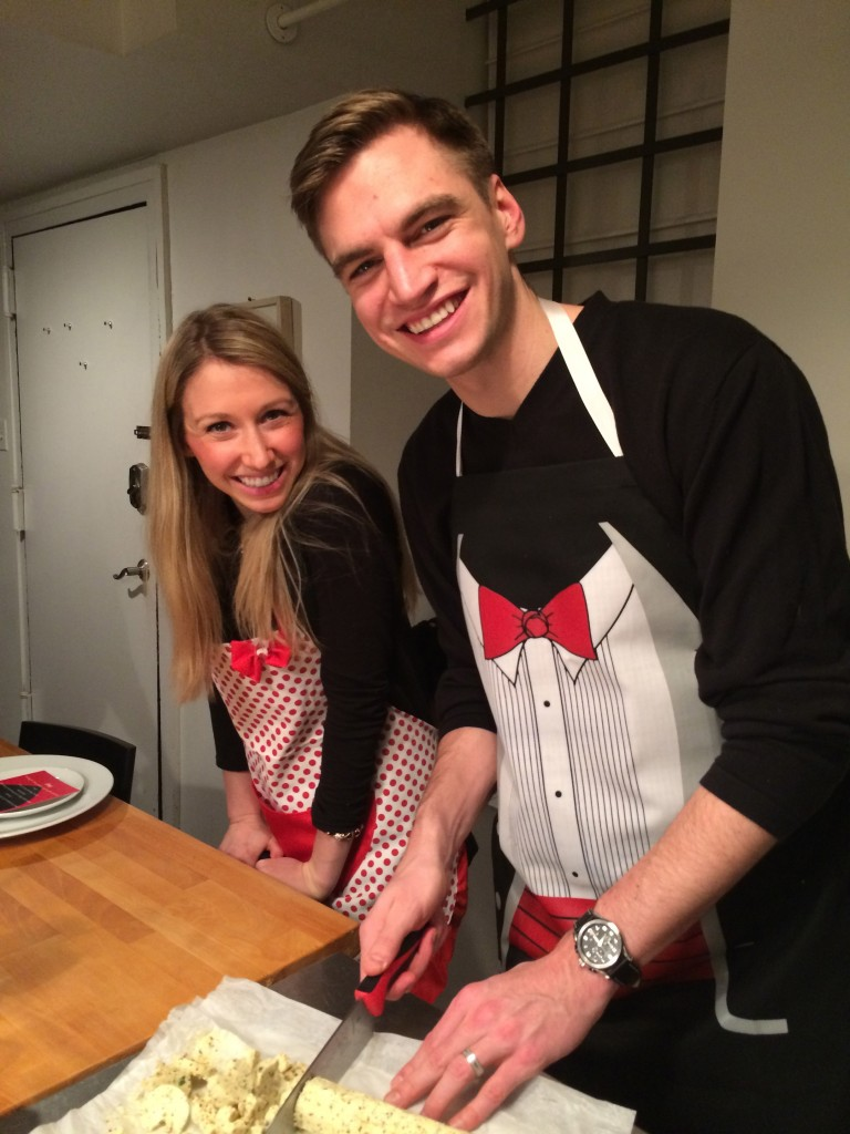 I love this couple AND these aprons!