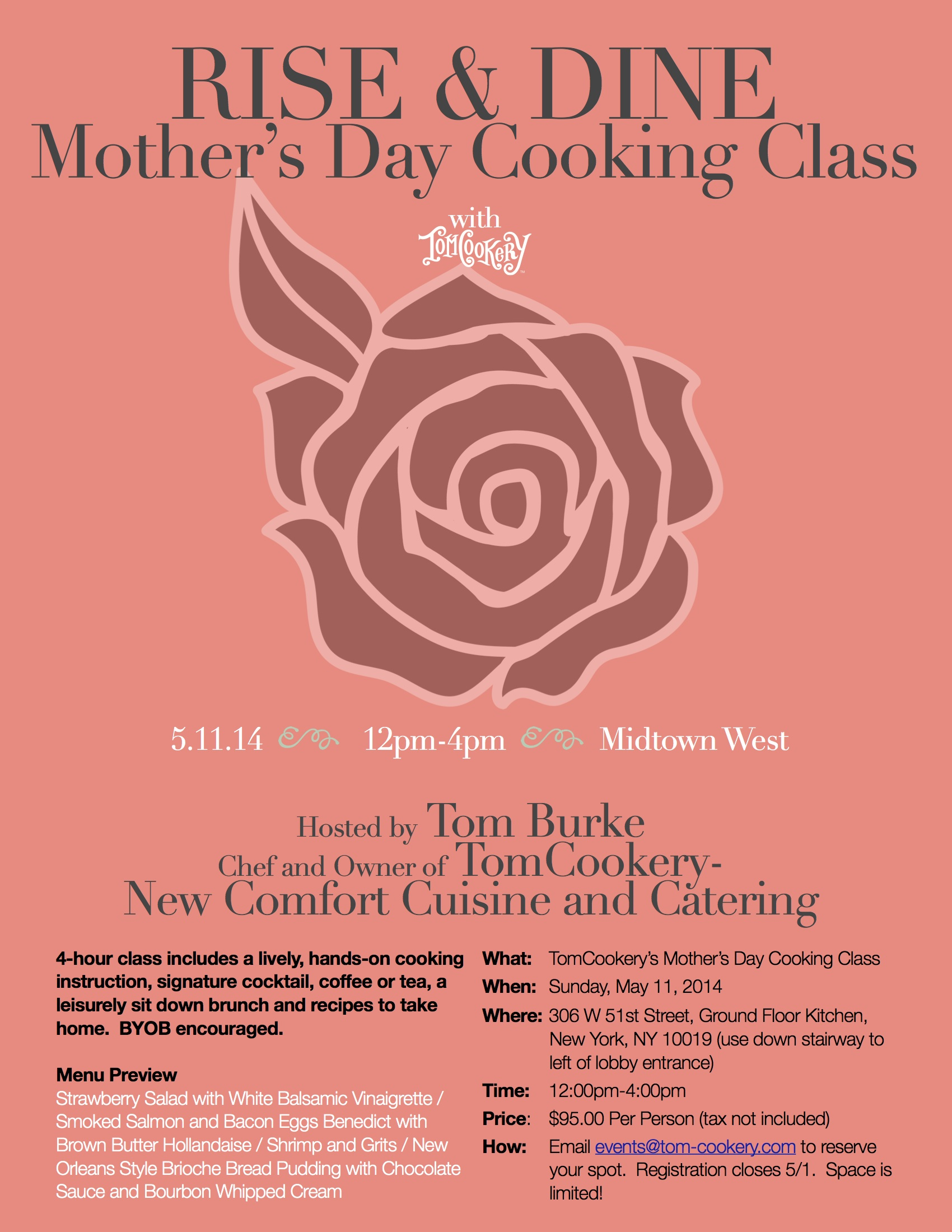 Mother's Day Cooking Class Flyer 5:11 JPEG